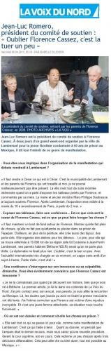 article voix du nord ROMERO CASSEZ 6 AVRIL 2011.JPG