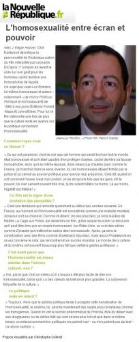 Nouvelle republique 12 janvier 2011 ROMERO.JPG