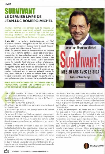 garçon magazine,jean-luc romero,survivant