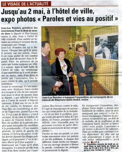 La voix du Nord avril 2012 ELCS ROMERO.jpg