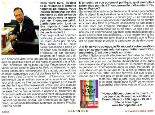 LOM Partie 2 Romero Homopoliticus Juin 2011.jpg