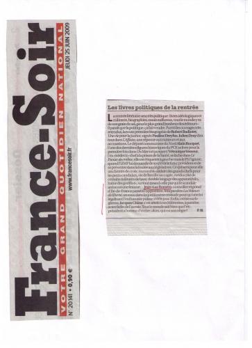 France Soir 25.06.09 VdL.jpg