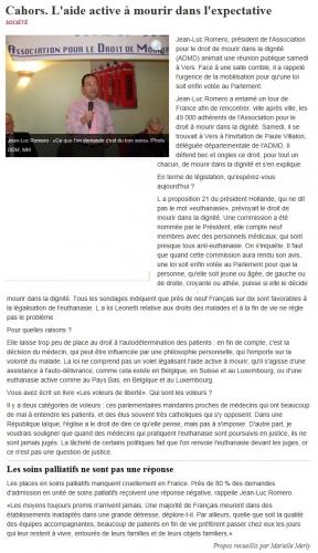 La Depeche 19 nov 2012.jpg
