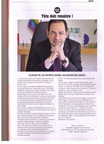 friendly magazine,jean-luc romero,têtu