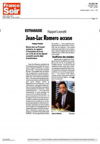 France soir 3 décembre 2008.JPG
