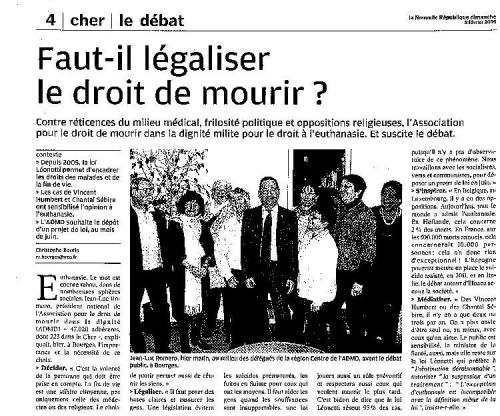 Nouvelle République du Centre - Bourges 8 février 2009.jpg