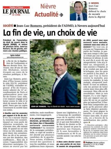 le journal du centre 23 mai 2017 admd romero.jpg