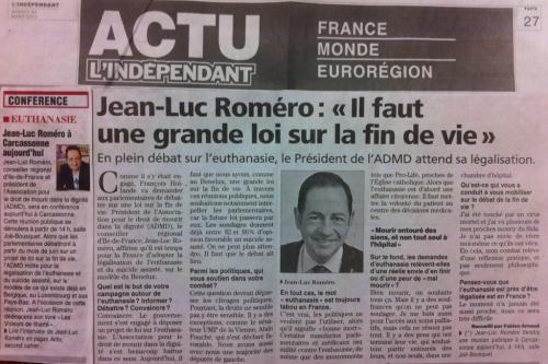 carcassonne,jean-luc romero,euthanasie,politique,france,santé