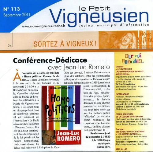 vigneux-sur-seine,jean-luc romero,homopoliticus,gay,france