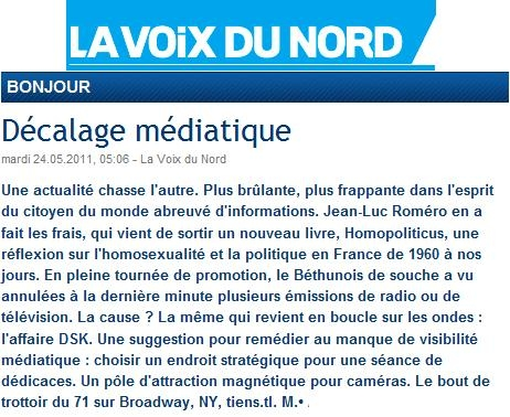 La Voix du Nord Homopoliticus 24 mai 2011.jpg