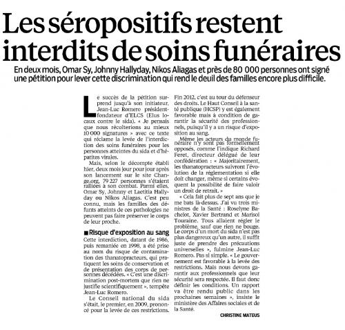 Le Parisien 01 du 3 fev 2013 SOINS FUNERAIRES ROMERO DENIS TEMOINS.jpg