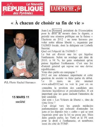 Nouvelle République Pyrénées ADMD 15 MARS 2011.JPG