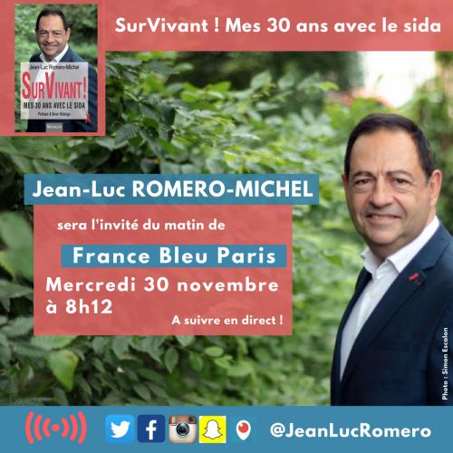 france bleu ile de france,jean-luc romero,sida,paris,santé,france