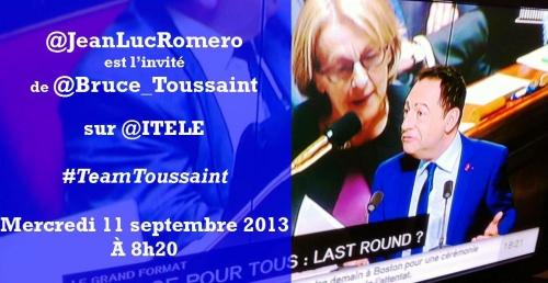 i-télé,jean-luc romero,bruce toussaint,politique,euthanasie