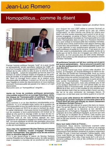 LOM Partie 1 Romero Homopoliticus Juin 2011.jpg